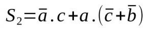 equation logique 2 simplifié
